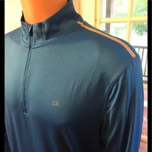 CALVIN KLEIN Activewear 1/4 Zip Liquid Pullover